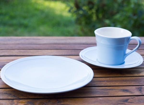 Sissi-hellblau 3-teiliges Kaffeegedeck