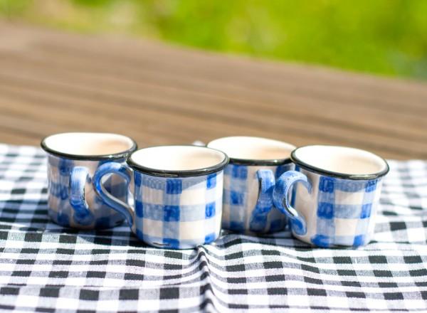 Picknick Espressotassen blue