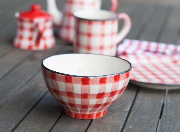 Picknick Dessertschale rot