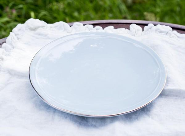 Sissi-hellblau Dessertteller mit Goldrand