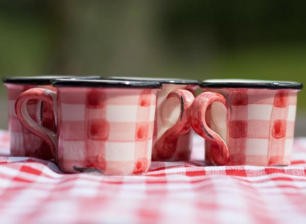 Picknick Espressotassen rot
