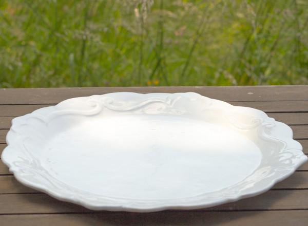 Romantik Tortenplatte rund