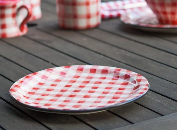 Picknick Dessertteller rot