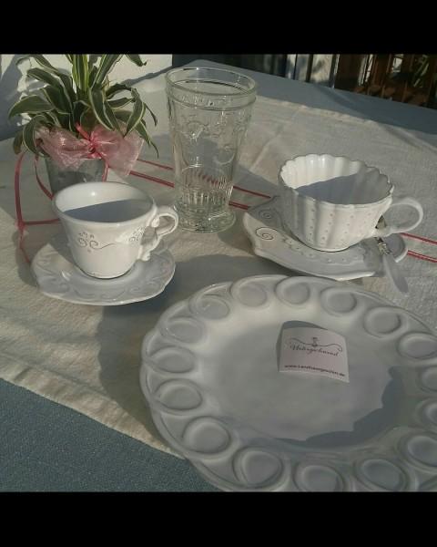 Romantik Espressotasse mit Unterteller